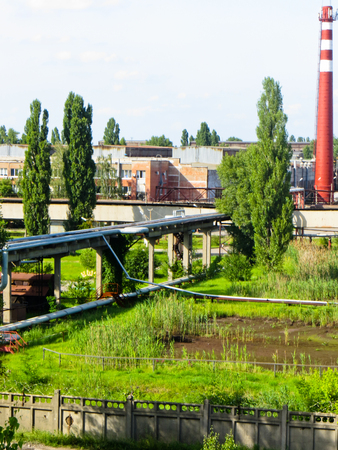 View on factory buildings Stock Photo