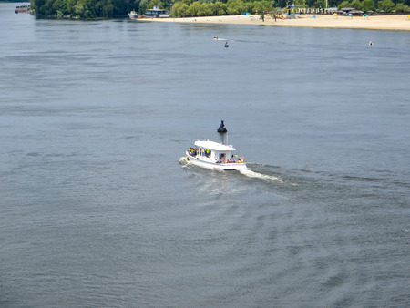 dnieper: Tourist boat on a river Dnieper