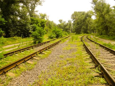 Vieux chemin de fer Banque d'images