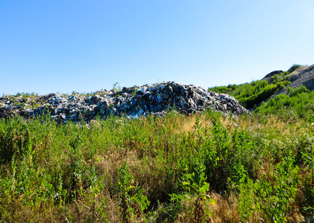 scrapyard: Big dump of the garbage outside the city