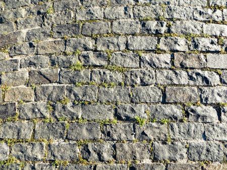 Granite cobblestoned pavement texture