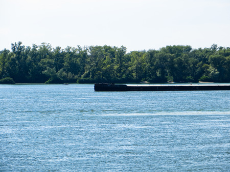 barge: Barge on a river Dnieper