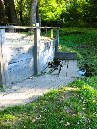 groundwater: Three wells were dug by order of the Bohdan Khmelnitsky Stock Photo
