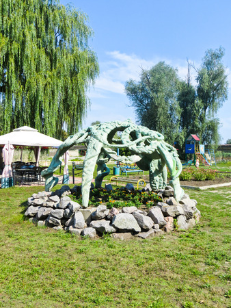 Gazebo in a park on summer