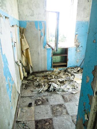 abandoned: Abandoned apartments Stock Photo