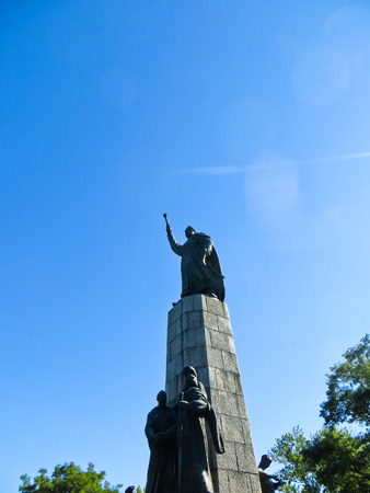 Monument to Bohdan Khmelnitsky in Cigirin, Ukraine Editorial