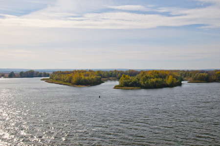 View on a river Dnieper from the bridge in Kremenchug