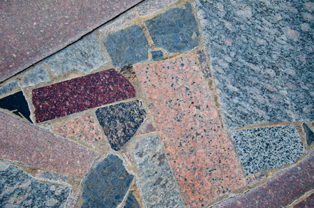 polished granite: Background of a pavement with polished granite