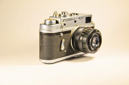 viewfinder vintage: Kremenchug, Ukraine - November 9, 2016: Soviet vintage camera Zorki
