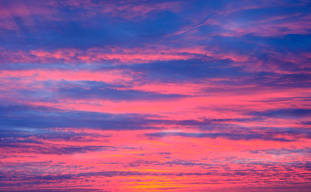 Beautiful sunset clouds in evening deep sky Stock Photo
