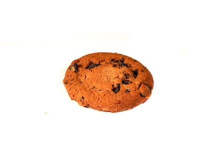 Chocolate chip cookie isolated on a white background