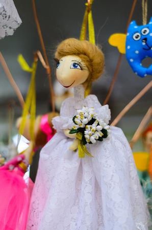 rag doll: Handmade rag doll for sale on a market Stock Photo
