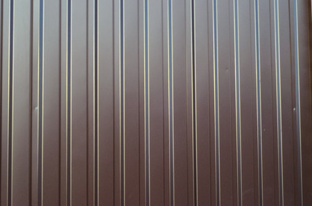 Texture of the corrugated metal sheet as a background