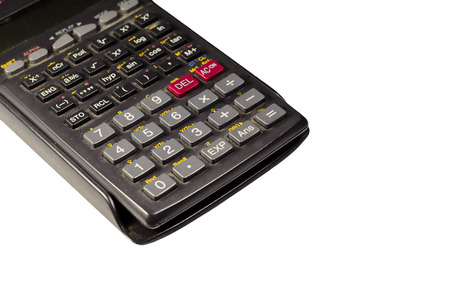 Scientific calculator for engineering isolated on a white background