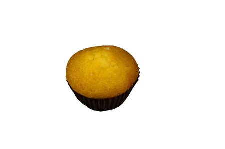 blueberry muffin: Fresh cupcake isolated on a white background Stock Photo