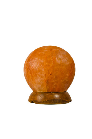 Hymalayan salt lamp isolated on a white background