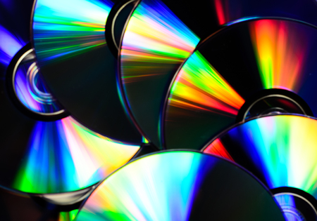 Pile of the cd disks for the background Stock Photo