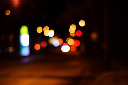 Abstract and blurred background of the car lights Stock Photo