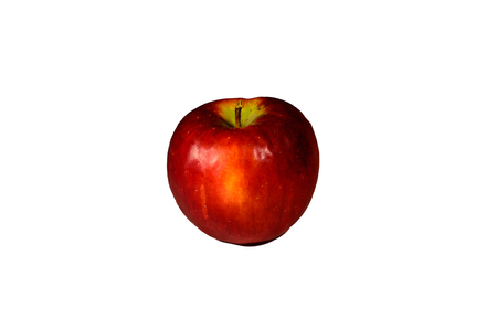 horticultural: Red apple isolated on a white background