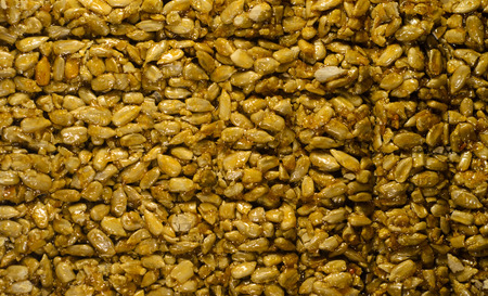 Background of the brittles with sunflower seeds