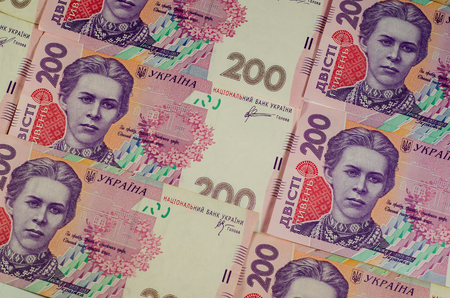 hryvna: Background of the ukrainian 200 hryvnas banknotes