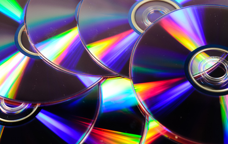 dvd rom: Pile of the cd disks for the background Stock Photo