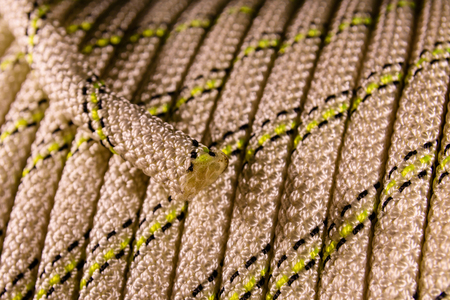 Background of the coiled sport climbing rope