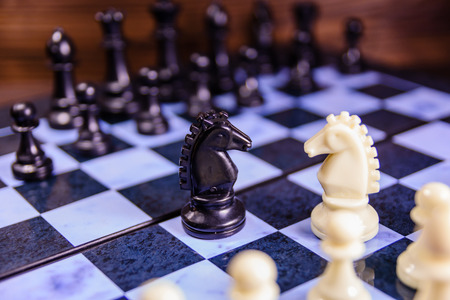 Composition of the chess pieces on chess board