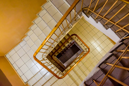 View on a staircase from the top