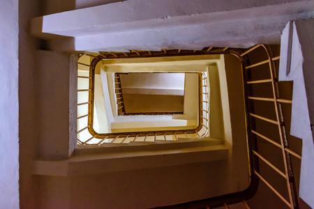 View on a staircase from the bottom Stock Photo