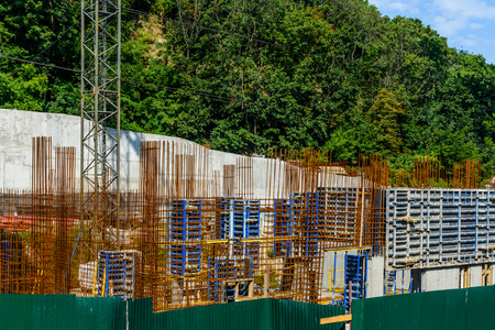 Framework for wall of the new residential building