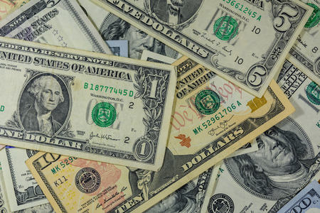 Background of the different american dollar banknotes