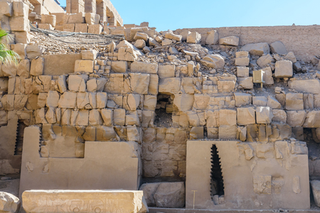 Ruins of ancient Karnak temple. Luxor, Egypt Banco de Imagens