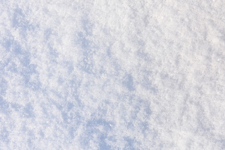 Texture of white fluffy snow for background