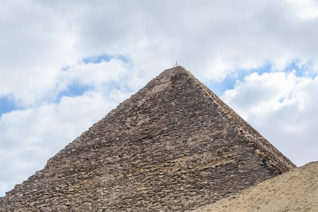 Great pyramid of Cheops in Giza plateau. Cairo, Egypt Stock Photo