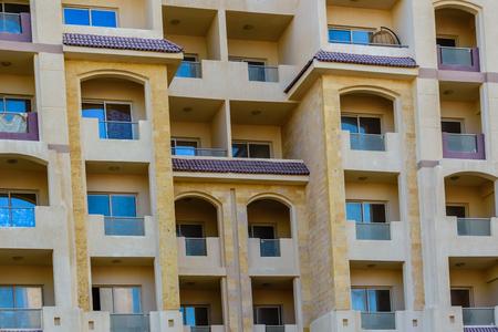 Facade of modern residential building in Hurghada, Egypt