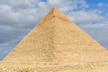 Great pyramid of Khafre in Giza plateau. Cairo, Egypt