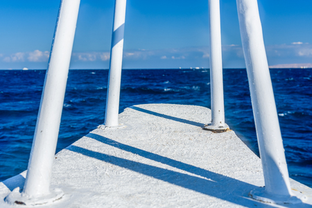 View on a Red sea from yacht bow 版權商用圖片
