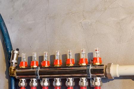 Details of central heating system in boiler room