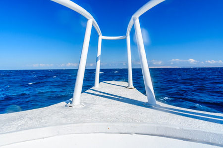 View on a Red sea from yacht bow Stockfoto