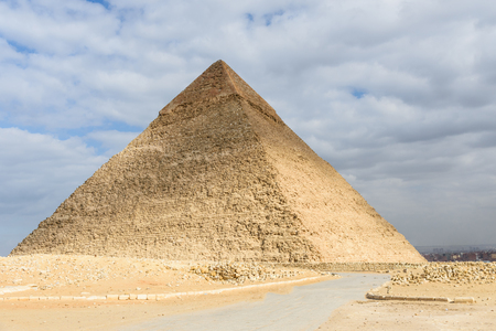 Great pyramid of Khafre in Giza plateau. Cairo, Egypt