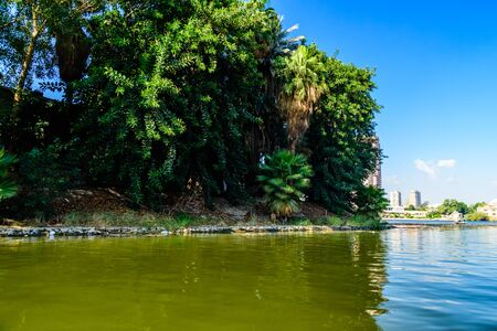 Bank of Nile river in Cairo, Egypt