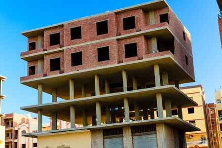 Construction of new modern residential building in Hurghada, Egypt
