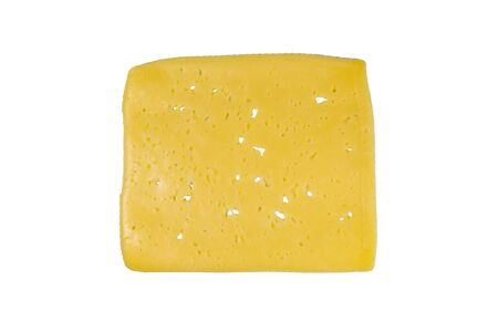 Slice of cheese isolated on white background Reklamní fotografie