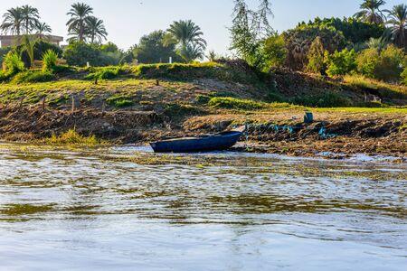 Old boat near the bank of Nile river Reklamní fotografie