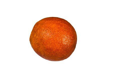Ripe sicilian orange isolated on white background Reklamní fotografie