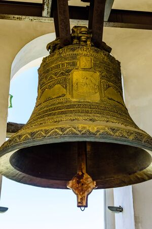 Big bell on bell tower of church 写真素材