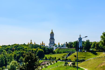 View on bell tower of Kiev Pechersk Lavra