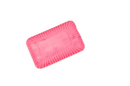 Pink soap isolated on a white background