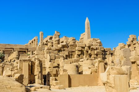 Ruins of ancient Karnak temple. Luxor, Egypt Stock fotó